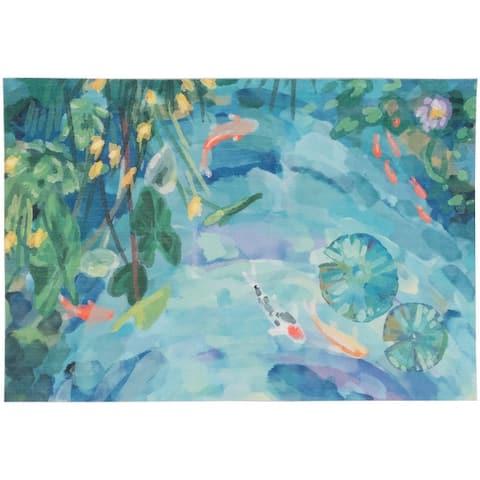Liora Manne Illusions Peaceful Pond Indoor/Outdoor Mat