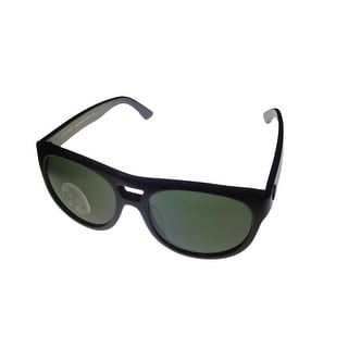 Vuarnet Sunglass Mens Black Square Smoke Glass Lens VL VL 1102 0001 1121 - Medium