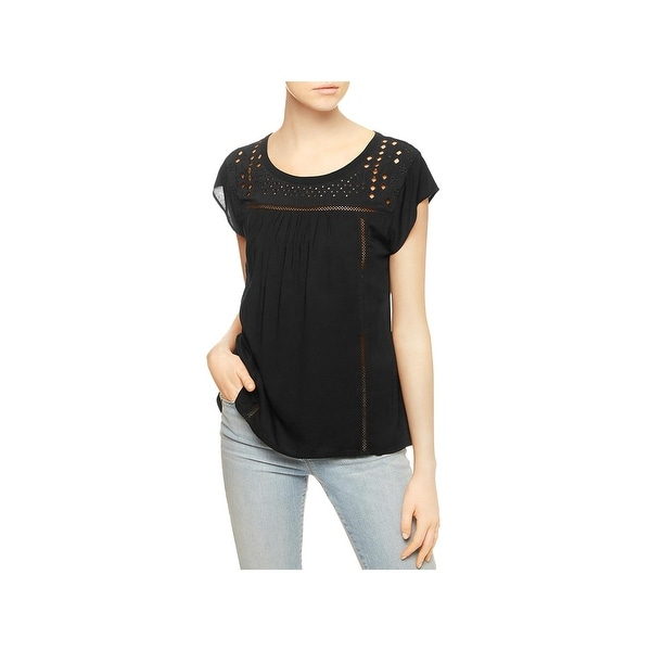6ddcc99644836 Shop Sanctuary Womens Paige Blouse Cut-Out Cap Sleeves - Free Shipping On  Orders Over  45 - Overstock - 20881248