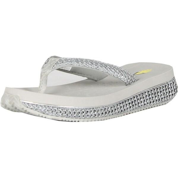 c86b9189e315 Shop Volatile Womens Palau Wedge Flip Flop Sandals - Natural - Free ...