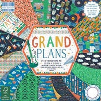 "Grand Plans; 16 Designs/3 Each - First Edition Premium Paper Pad 8""X8"" 48/Pkg"