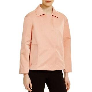 Lafayette 148 Womens Tavi Jacket Snap Closure Collared