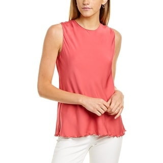 Link to Theory Ruffle Silk-Blend Tank Similar Items in Pants