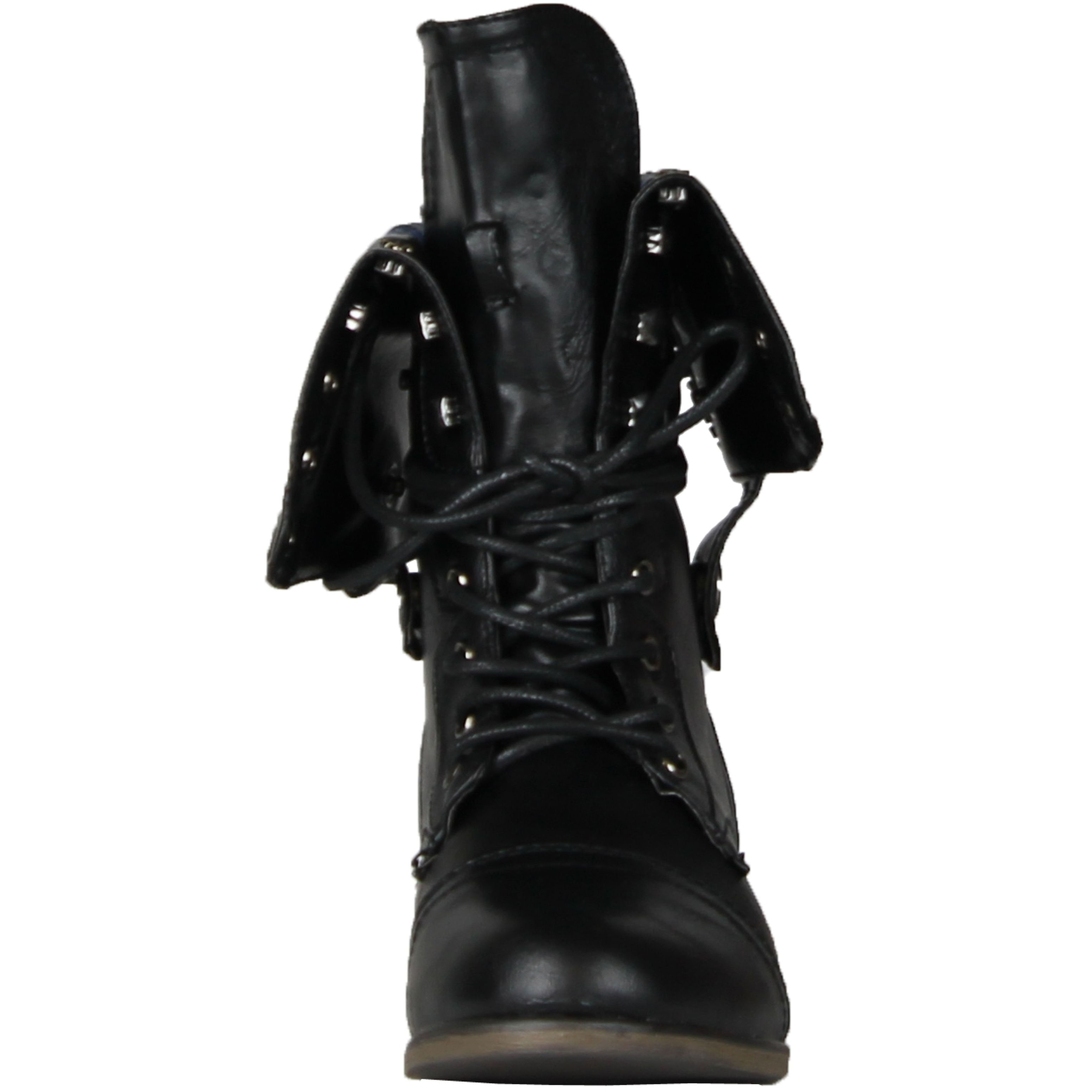 Details about  /DbDk Women/'s Star-8 Round toe Adjustable Foldover Cuff Combat Booties