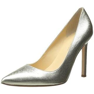 Ivanka Trump Womens Carra Leather Pointed Toe Pumps - 10 medium (b,m)
