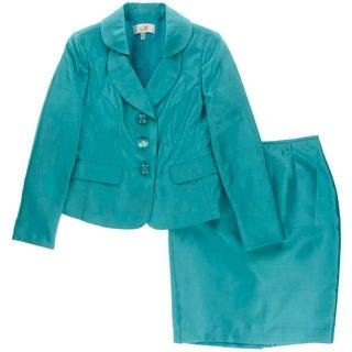 Le Suit Womens Petites Torino Shimmer 2PC Skirt Suit