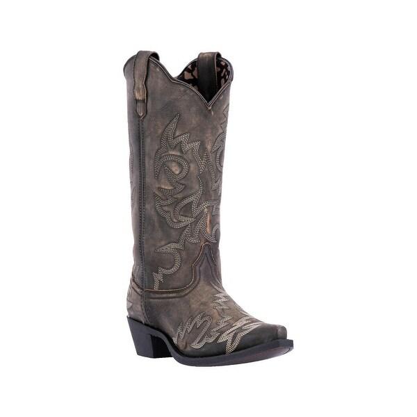 Laredo Western Boots Womens Snip Cowboy Flashy Elaina Black