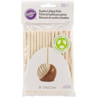 """Bamboo Lollipop Sticks 5"""" 30/Pkg-"""