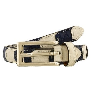 Renato Balestra LUCA BIANCO E BLU White/Blue Leather Mens Belt-39in