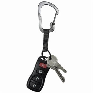 Nite Ize No.3 Slide Lock Carabiner with key ring - Stainless Steel