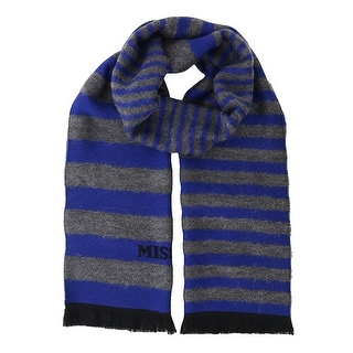 Missoni SC12WMU5078 0002 Blue/Grey Wool Blend Scarf