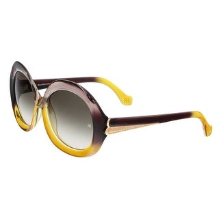 Balenciaga BA0007 59B Beige/Yellow Gradient Round Sunglasses