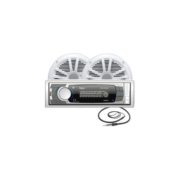 Boss Audio MCK1308WB.6 AM/FM Mechless Receiver Combo Kit w/ MR6W 6.5 Full Range Marine Speakers
