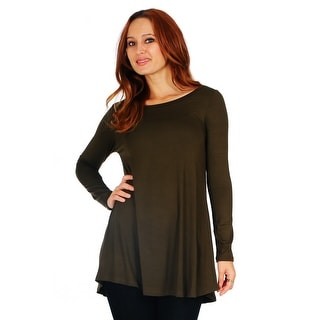 Link to Simply Ravishing Women's Scoop Long Sleeve Pleated Flare Blouse Top Tunic Shirt (Size: S-5X) Similar Items in Scarves & Wraps