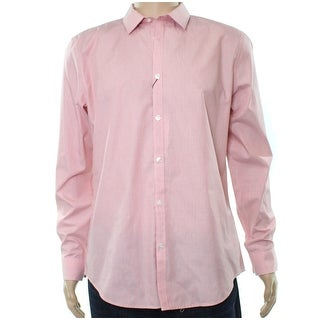 Calvin Klein Rose Pink Mens Size Large L Slim Button Down Shirt