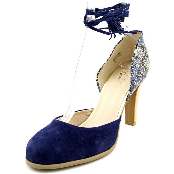 Seychelles Aware Women Round Toe Suede Blue Slingback Heel