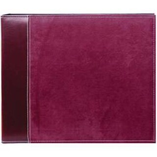 """Burgundy Suede - Sewn Cover 3 Ring Album 12""""X12"""""""