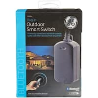 GE 13868 Bluetooth Outdoor Smart Switch Timer, Black