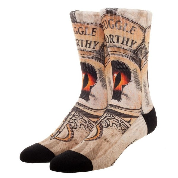 "Fantastic Beasts ""Muggle Worthy"" Sublimated Crew Socks - White"