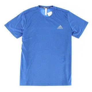 Adidas NEW Blue Mens Size XL Mesh Climalite Tech Dry Athletic Shirt