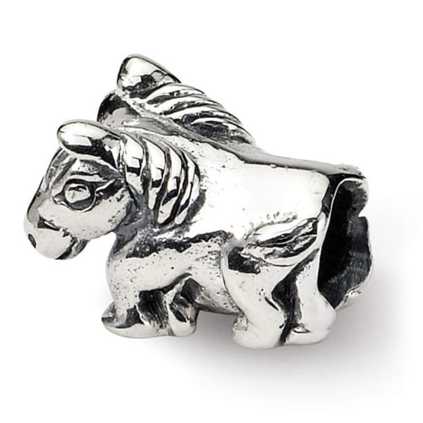 Sterling Silver Reflections Kids Horse Bead (4mm Diameter Hole)