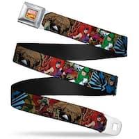 Marvel Comics Marvel Comics Logo Full Color Retro Inhumans 4 Superhero Seatbelt Belt