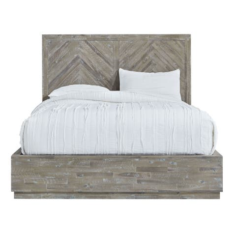 The Gray Barn Morning Star Queen-size Solid Wood Storage Bed in Rustic Latte