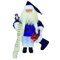 "15"" NCAA Kansas State Wildcats Santa Claus Christmas Figure with Nutcracker - Purple"