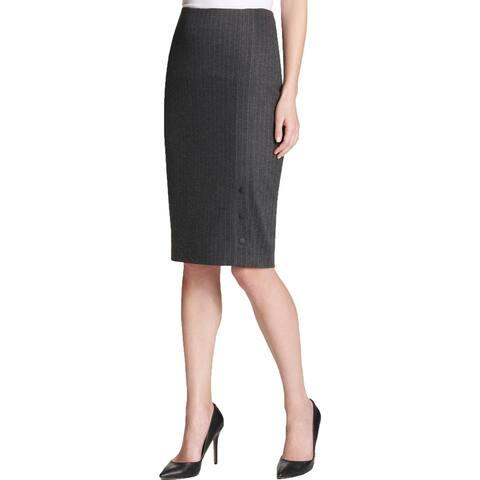 Tommy Hilfiger Womens Pencil Skirt Pinstripe Knee-Length