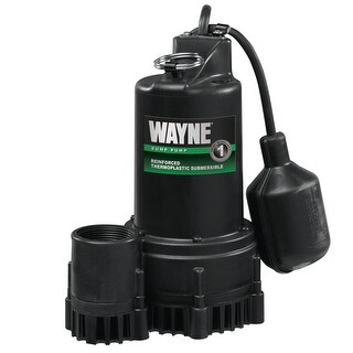 Wayne RSP130 Submersible Sump Pump, 1/3 Hp