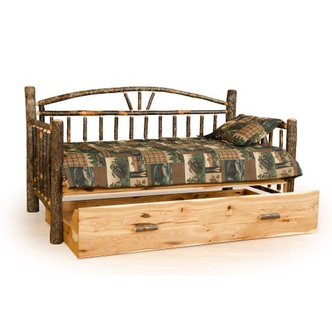 Hickory Log Day Bed Frame with Trundle