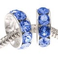 Swarovski Elements Crystal, 77512 BeCharmed Rondelle 4.5mm Large Hole Beads 12mm, 2 Pcs, Sapphire - Thumbnail 0