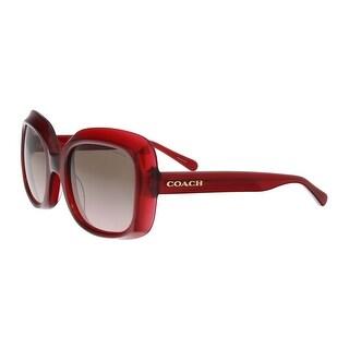 Coach HC8194F 502914 Red Oversized Sunglasses - 53-21-140
