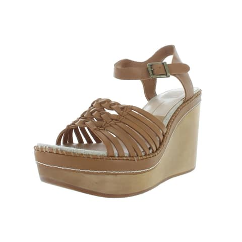 Dolce Vita Womens Reea Wedges Leather Strappy