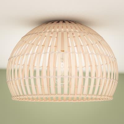 Kingley 1-Light Bamboo Flush Mount