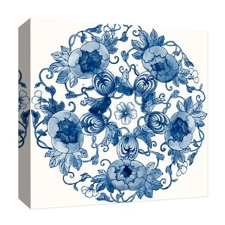 """PTM Images 9-126829  PTM Canvas Collection 12"""" x 12"""" - """"Circular Convolvulus"""" Giclee Flowers Art Print on Canvas"""