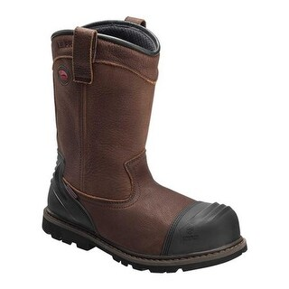 Avenger Men's A7876 Carbon Toe Waterproof PR Wellington Boot Brown Full Grain Leather
