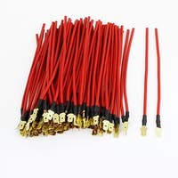 Unique Bargains 100 Pcs Red Car Auto Speaker 0.75mm 2 Cable Connector