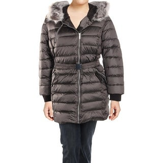 French Connection Womens Plus Parka Coat Winter Down