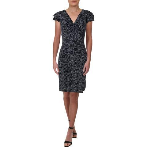 Lauren Ralph Lauren Womens Brisa Wear to Work Dress Printed Ruched