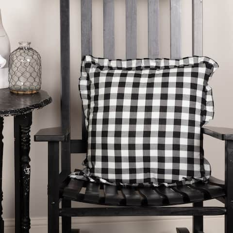 Annie Buffalo Check Ruffled Pillow