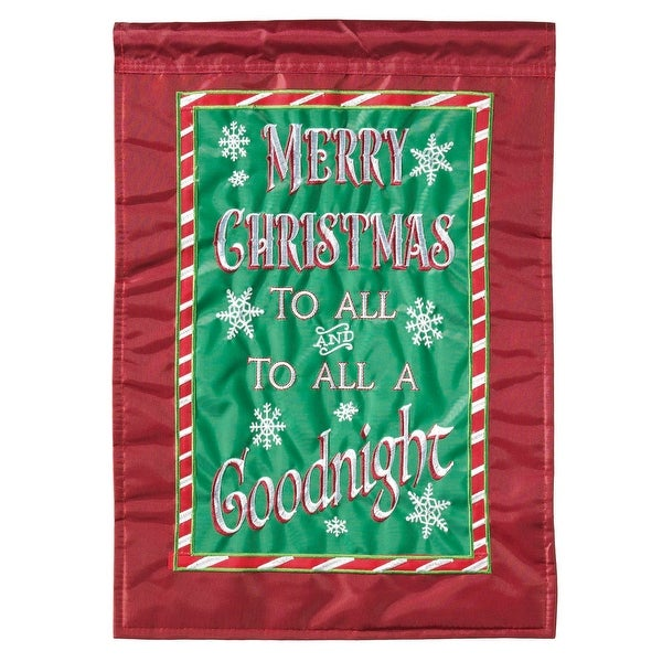 """Red and Green Merry Christmas Rectangular Large Flag 42"""" x 29"""" - N/A"""
