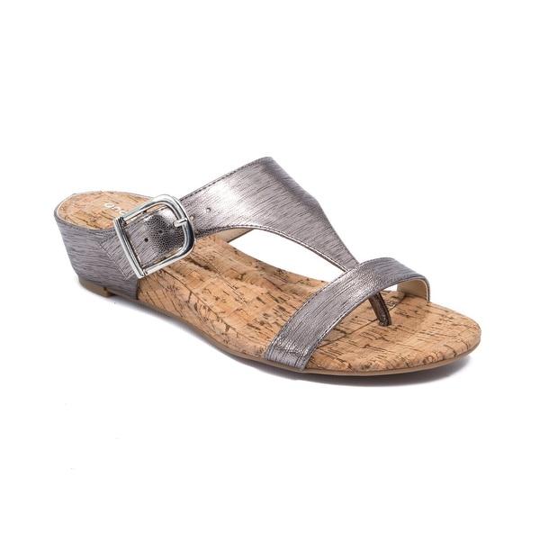Andrew Geller Iwin Women's Sandals & Flip Flops Pewter
