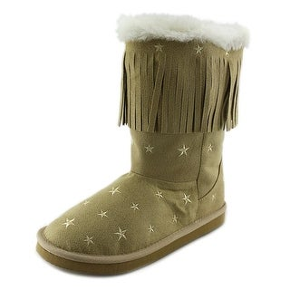 L'amour Starry Night Youth Round Toe Canvas Boot