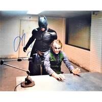 11 x 14 in. Bruce Wayne & The Joker Heath Ledger Christian Bale