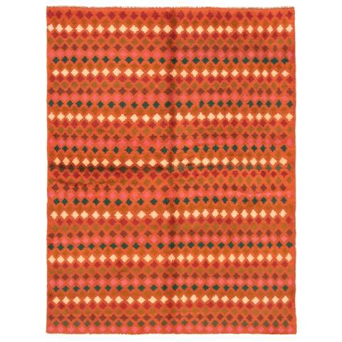 ECARPETGALLERY Hand-knotted Baluch Dark Copper Wool Rug - 5'10 x 7'9