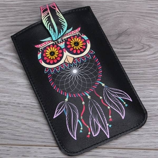Mad Style Owl 3D Art Phone Carrier - Multi-color