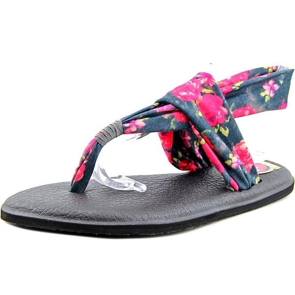 Sanuk Yoga Sling 2 Women Charcoal Multi Roses Sandals