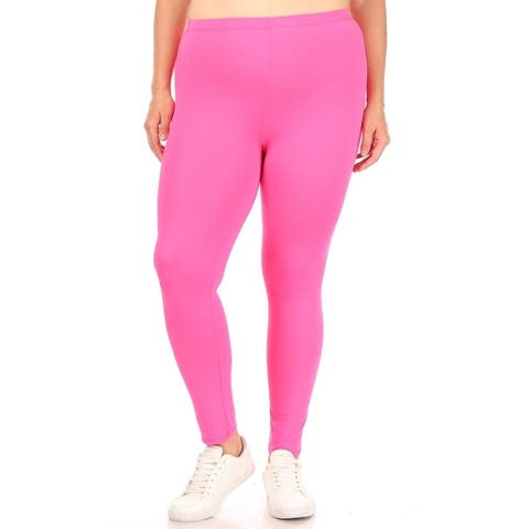 Women's Plus Size Elastic Band Comfy Workout Leggings Bottom Pants