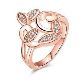 Rose Gold Apple Bottom Design Ring